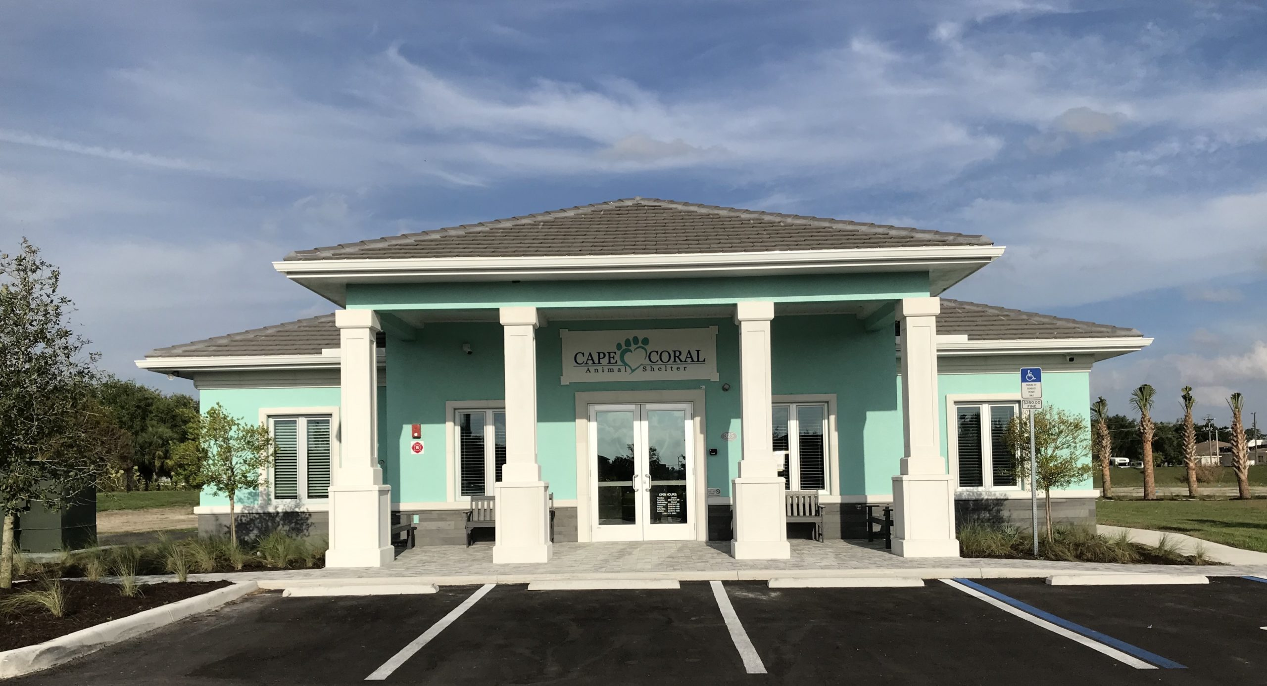 Cape Coral Animal Shelter Front of Building