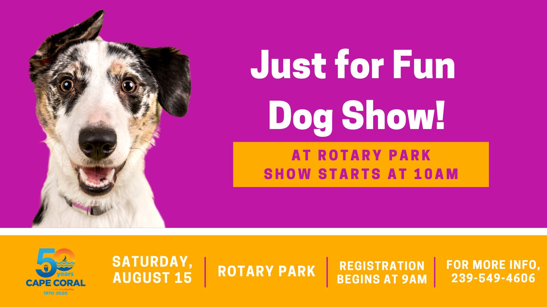 Just for Fun Dog Show 2020